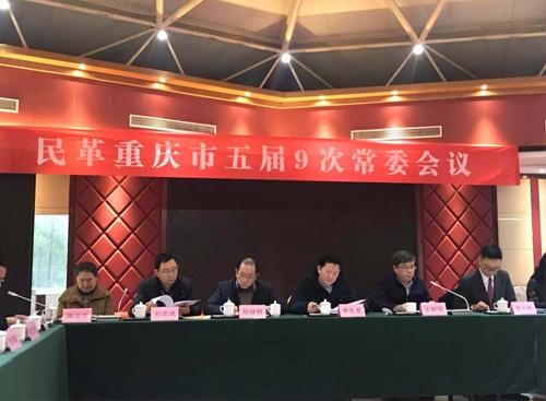 民革重庆市委五届9次常委会在重庆市玉峰山东方山水酒店召开